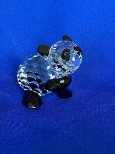 SWAROVSKI CRYSTAL FIGURINE MOTHER PANDA #181 080 / 7611 000 001 RETIRED, BOX+COA
