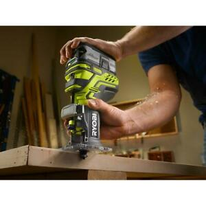 RYOBI 18-Volt ONE+ Cordless Fixed Base Trim Router (Tool Only) w/ Easy Depth Adj