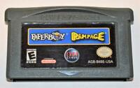 PAPERBOY/RAMPAGE NINTENDO GAMEBOY ADVANCE SP GBA GAME