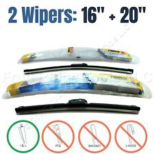 """PAIR Rain-X 16""""+20"""" Latitude All-Weather Front Windshield Wiper Blades I&L Only"""