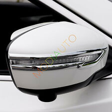 For Nissan Rogue X-trail 2014-2017 ABS Chrome Mirror Rearview Molding Trim 2X
