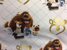 "25 cm Jersey Kinderstoff ""Pets"" hellgrau Hunde Comic"
