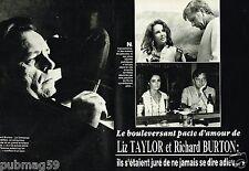 Coupure de Presse Clipping 1984 (7 pages) Liz Taylor et Richard Burton
