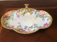 Antique Hand Painted Artist Signed WM Guerin Limoges Platter