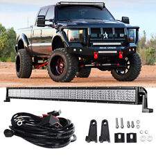 """Quad Row 42"""" 2880W LED Light Bar Flood Spot Offroad Jeep Ford Truck SUV 4WD 50"""""""