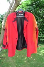 Jacket red cotton XL designed by Skorpi, very good condition