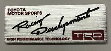 x1 Aluminum TRD Wing Emblem Replaces OEM Toyota Racing Development Sports Badge