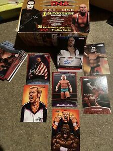 WWE AEW TNA Signed Cards Christian Sting Angle Aj styles Message Before Buying