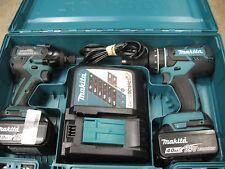 MAKITA 2 PC COMBO KIT CORDLESS 18V LITHIUM ION LXT HAMMERDRILL IMPACT DRIVER