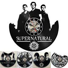 Supernatural Vinyl Record Wall Clock Decor Fan Wall Decoration Modern Vintage