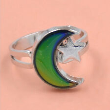 Fashion Chic 1PC Mood Ring Changing Color Moon Adjustable*Temperature RinDOFA
