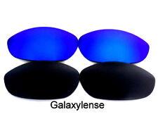 Galaxie verres de rechange pour Oakley Monster Chien Noir & bleu 100% UVAB 2