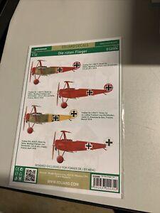1/32 Eduard Decals #D32006 Die Roten Flieger Richthofen Fokker Dr.1s
