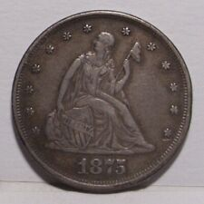 1875 Twenty Cent Piece , XF