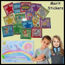 Personalised Teachers Merit Stickers - Set of 35 - Many designs - School Reward
