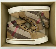 Authentic Toddler Baby Burberry Sneaker House Check High Tops Size 21 US 5.5