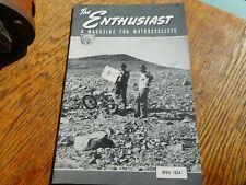 1954 Vintage Harley Davidson The Enthusiast Magazine April 13800 Feet Up