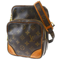 Auth Louis Vuitton Amazon Shoulder Bag Monogram Leather Brown M45236 33MG006