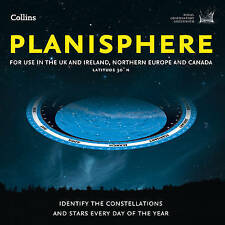 Planisphere: Latitude 50 N - for Use in the UK and Ireland, Northern Europe...