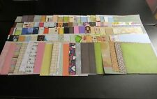 SCRAPBOOK PAPER LOT OF 100 ASSORTED SHEETS 12 X 12 MULTIPLE DESIGNS A11812
