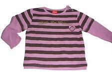 s. Oliver tolles Langarm Shirt Gr. 68 rosa-braun gestreift !!