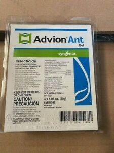 Advion Ant Gel Bait - 4 Tubes with 1 Plunger and 2 Tips  (NEW)