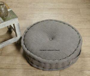 Round Patio Yoga Hand Woven Meditation Cushion Seat Pillow Foot Stool Floor Pad