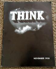 Think Magazine Nov 1958