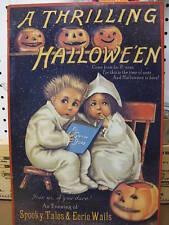 A Thrilling Halloween Tin Metal Sign Pumpkin Holiday