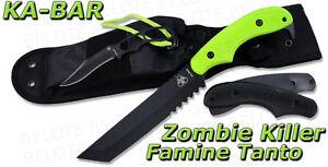 Ka-Bar KaBar ZK Zombie Killer Famine Tanto w/ Sheath MADE IN USA 5700 *NEW*