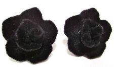 SoHo® Ohrstecker Velvet Rose Samtrose schwarz gothik Oktoberfest Trachtenschmuck