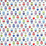 CANVAS HEAVY COTTON UPHOLSTERY CRAFT FABRIC MATRYOSHKA RUSSIAN DOLL ON IVORY 44""