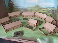 8 15mm Bungalows  Scenery Buildings MDF Laser cut Flames of war etc