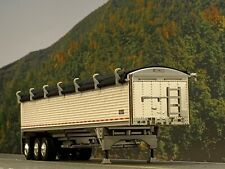 1/64 DCP WHITE WILSON TRI AXLE GRAIN TRAILER