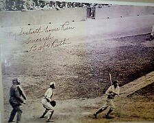 Autographed Copy Babe Ruth (Reproduction) Print of his Sixtieth Home Run in 1927