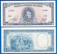 Chile P-134a 1/2 Escudo Year ND Issue 1962-75 Uncirculated Banknote
