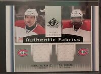 2013 - 2014 SP Game Used Plekanec/Subban Authentic Fabrics #AF2-PS Hockey Card