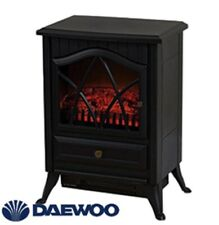 Daewoo 2000W, Electric Fireplace Log Burn Flame Effect Stove Fire Free Standing