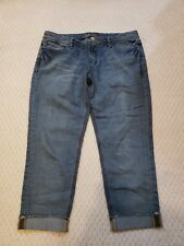 Seven7 Destructed Distressed capri jeans - size 32