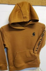 Carhartt CA6197-210 Kids Pullover Logo Sleeve Sweatshirt Carhartt Brown