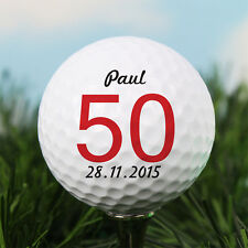 Personalised Age Golf Ball Any Message. Grandad Dad Uncle Brother Birthday Gift