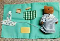 Calico Critters Sylvanian Family Brown Bear 1980's & New Kitchen Accessories