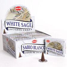 Lot Of 30 Hem White Sage Cone Incense 3 Box Of 10 Cones = 30 Cone Always Fresh