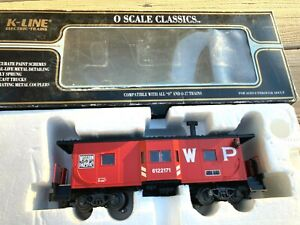 K-LINE-O- #K612-2171-WESTERN PACIFIC BAY WINDOW CABOOSE w/ Lights-EXLT COND.