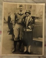 antique original Charles Lindbergh With His Mother Photo By Underwood Rare