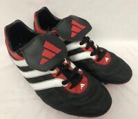 RARE ADIDAS PREDATOR SCISSION FOOTBALL SG BOOTS | Red/Black | 2000 | UK 7.5