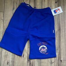 Vintage 80s BIKE New York Mets Fleece 50/50 Shorts Blue Small MLB Baseball USA