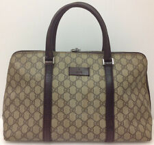 GUCCI GG Canvas Tote Hand Bag Brown Italy Vintage Authentic