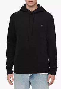 All Saints Mens Theo Hoodie Designer Pullover Overhead Hooded Sweatshirt Hoody