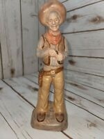 Antique Vintage Ceramic Porcelain Old Man Cowboy Figurine 10 3/4""